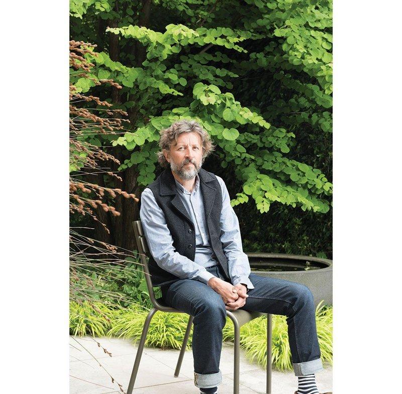 Dan Pearson in the courtyard of his London studio.