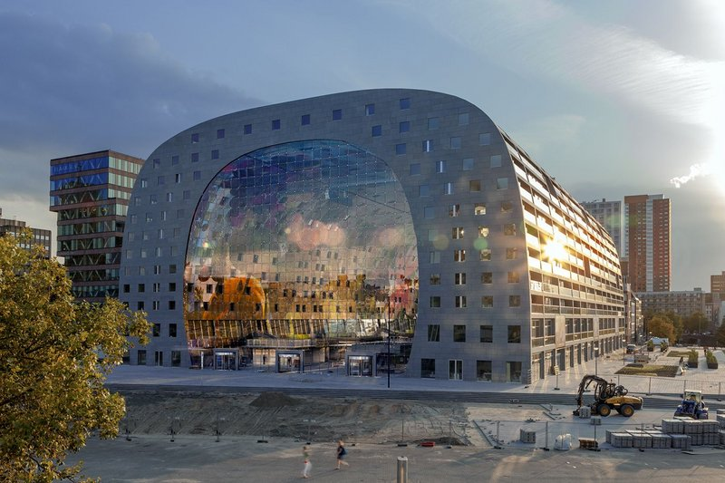 Dutch courage - the Markthal in Rotterdam wraps retail space with housing