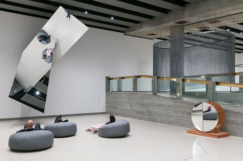 Installation view of Jeppe Hein_ 360° Illusion V, 2018 at Space Shifter