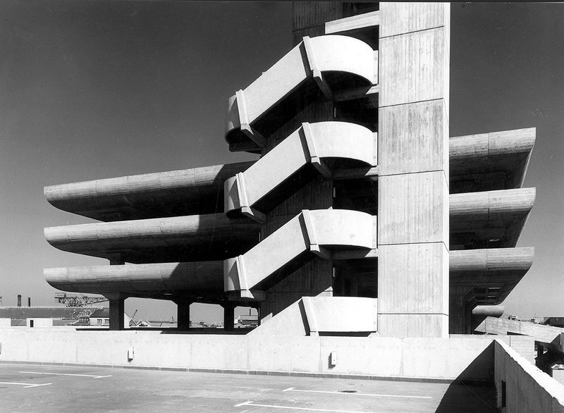 The car park of Owen Luder's Tricorn Shopping Centre, Portsmouth.