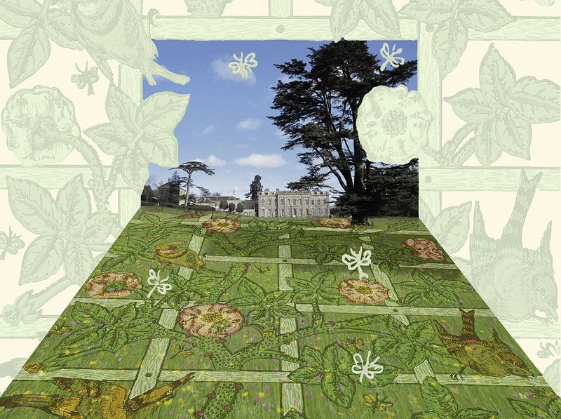 Landscape designer Dan Pearson's visualisation of the parterre.