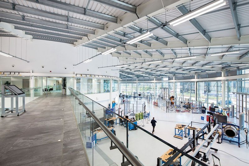 The University of Sheffield's Advanced Manufacturing Recovery Centre, by Bond Bryan.