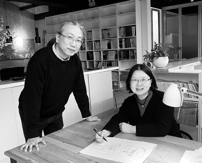 Dong Mei & Liu Xiaochuan, founders of BCKJ Architects, winners of the 2020 Royal Academy Dorfman Award for Architecture.  © Courtesy of BCKJ Architects