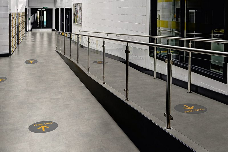 Amtico 'walk this way' helps manage the movement of people through buildings.