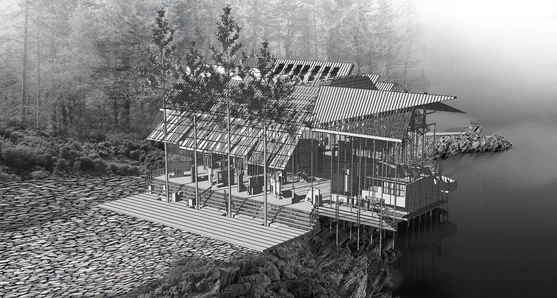Yik Chung Boon designed a Montessori school in Florida as part of his exploration into an alternative classroom typology.