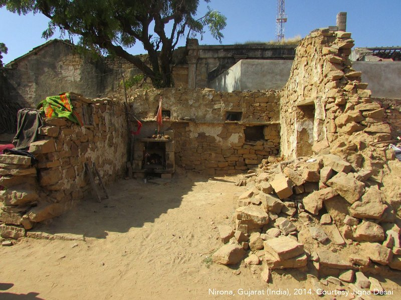 A house at the village of Suthri in Gujarat, India in 2012.