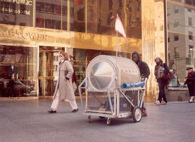 Krzysztof Wodiczko, Homeless Vehicle, Variant 3, 1988.