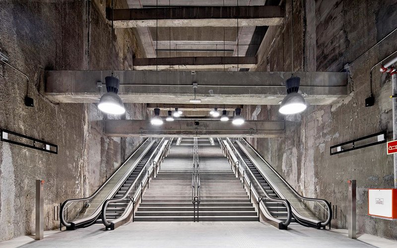 Garcés de Seta Bonet Arquitectes' three metro stations on Barcelona's L9 won the Interior Design category.