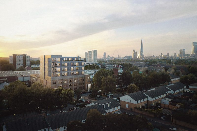 Skyroom's first live project, four storeys in Bermondsey, designed by TDO architecture.