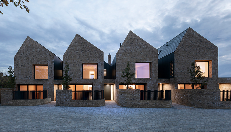 East region winner: Woodside Mews, four homes in Levesden Hertfordshire, by TAS Architects.