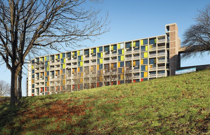 'Our great team of architects helped us create designs which work with the existing template and enhance it,' says Urban Splash chairman Tom Bloxham of the work of Hawkins\Brown and Studio Egret West at Park Hill, Sheffield.