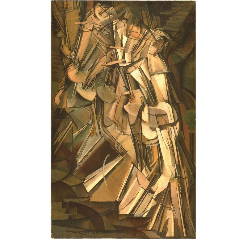 Nude Descending a Staircase, Marcel Duchamp, 1912.