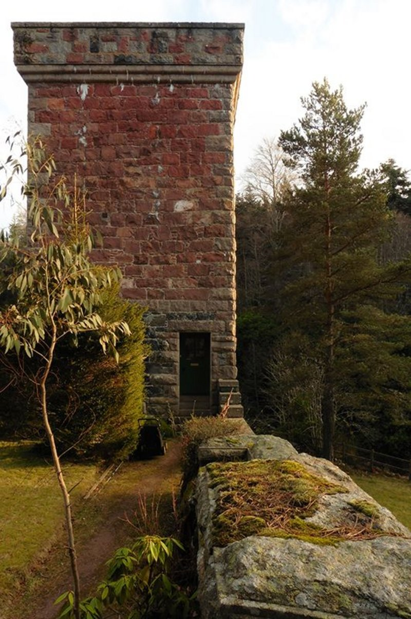 Truefitt's buildings usually do not have a principal elevation or a 'show front'. None of the elevations of his Tower of Ess in Scotland are the same, with one side showing only one door opening.
