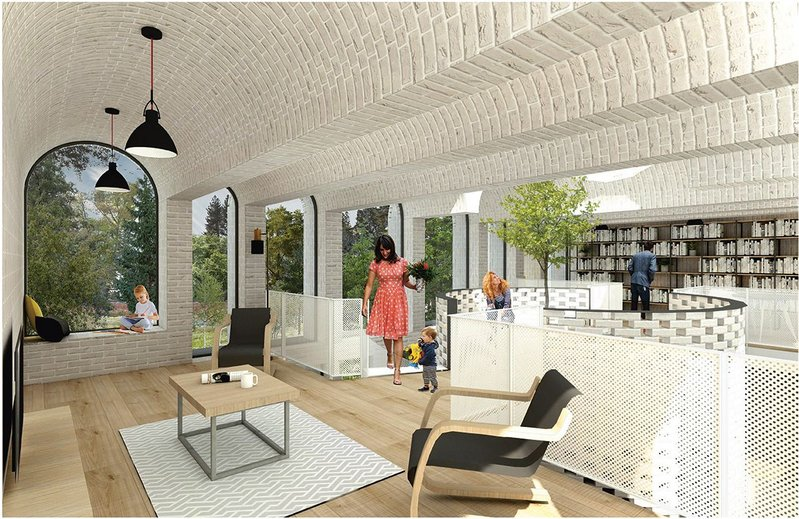 A vaulted arched ceiling in the central living space of David Parsons' commended Villa ME!
