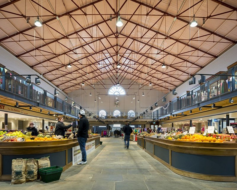 Scarborough Market, a grade II listed Victorian building, has been revitalised by Leeds practice Group Ginger. Interventions included a flexible events space for temporary traders and activities.