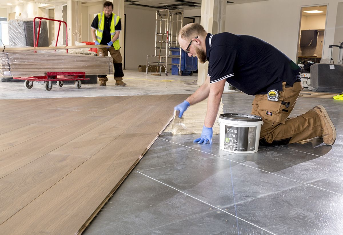 Cover Your Subfloor with Bonding Agent